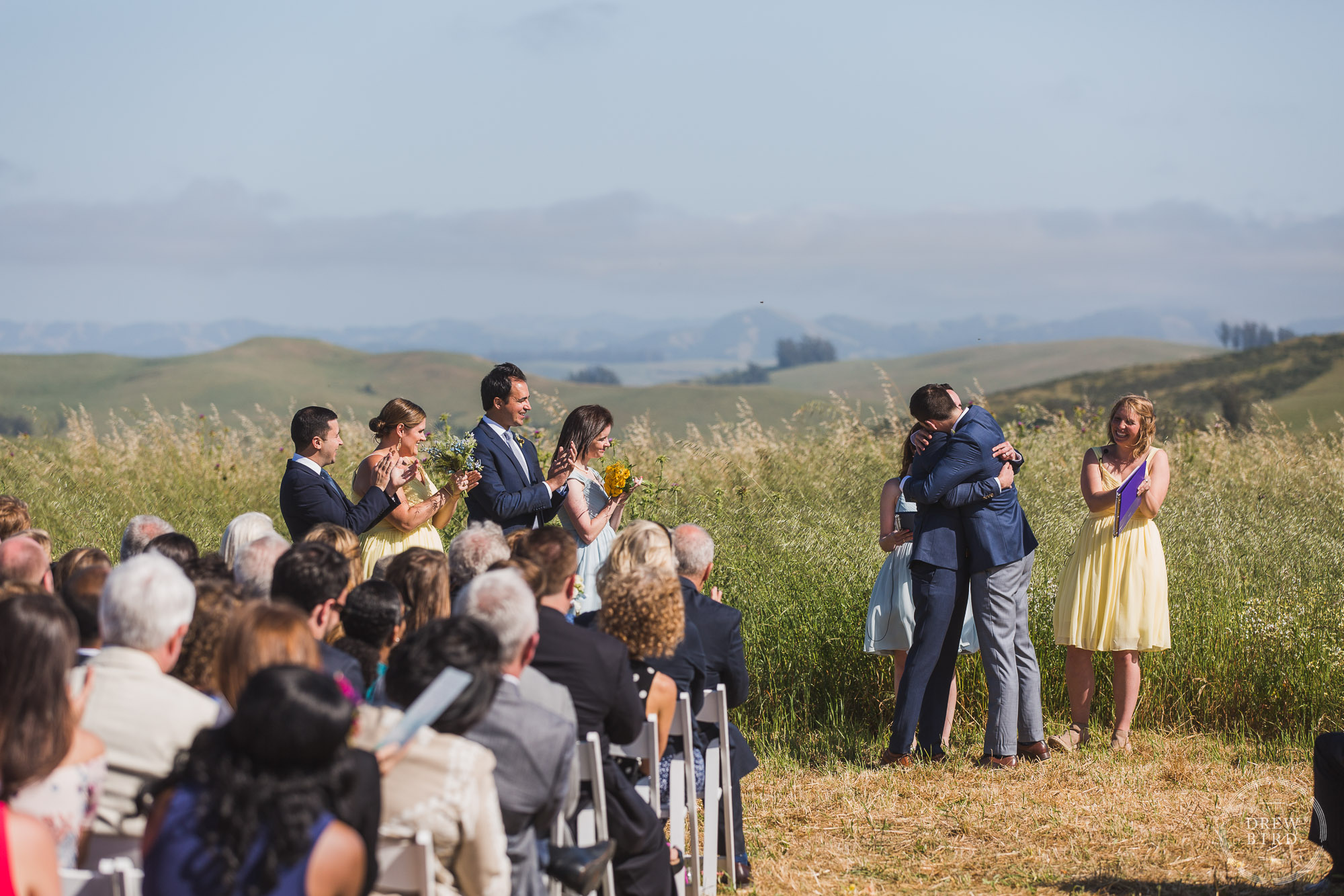 Sonoma Farm Wedding photographer Drew Bird. Gay wedding photographer.