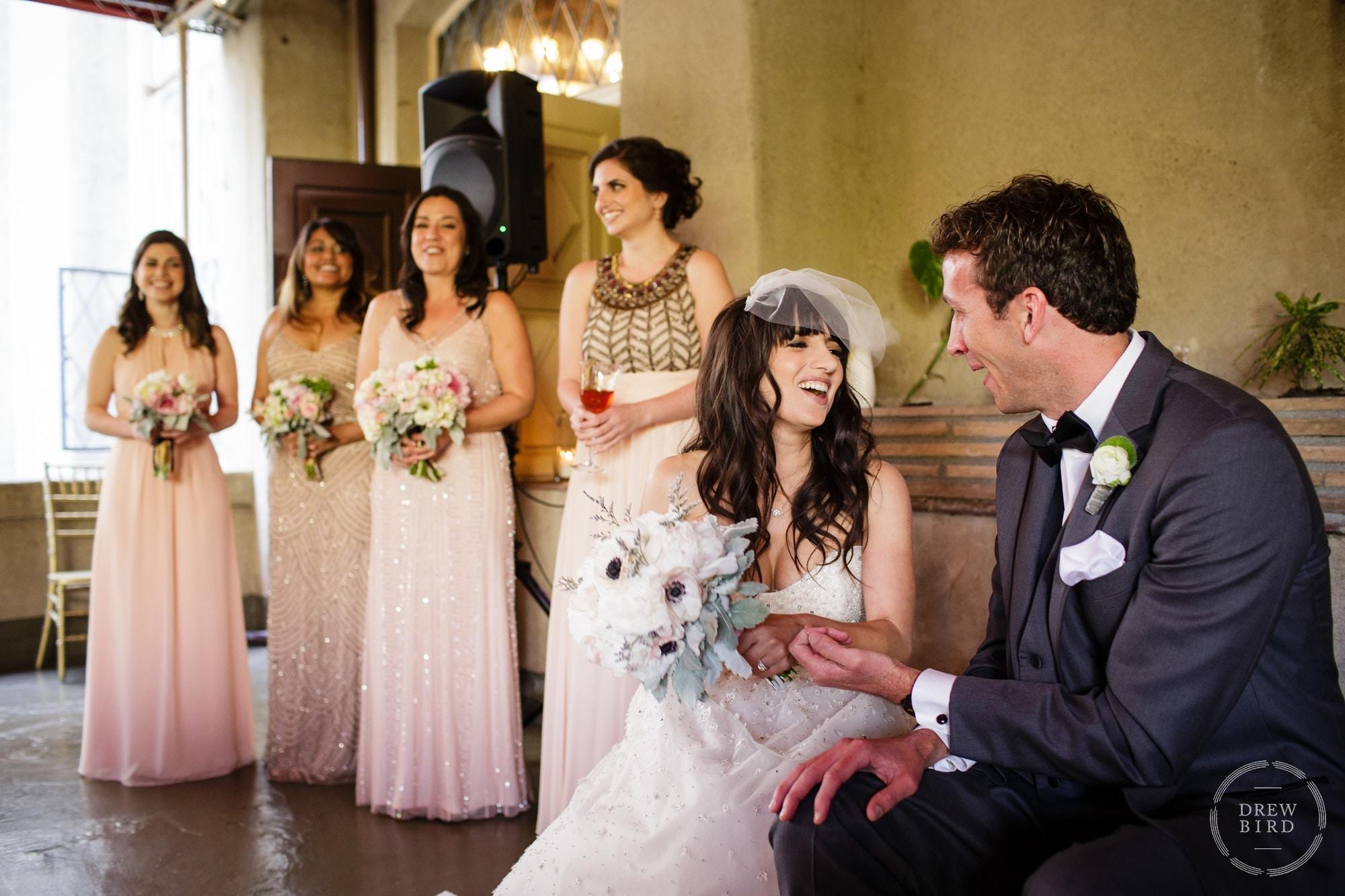 Persian wedding ceremony on the terrace at Berkeley City Club, a Julia Morgan design. Wedding photojournalism by Drew Bird.